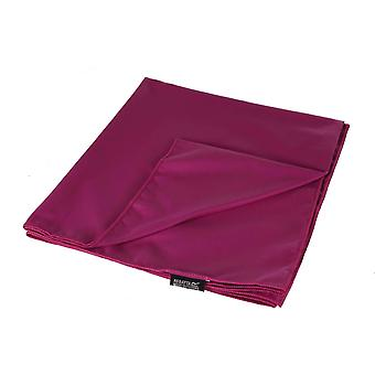 regatta giant travel towel winberry purple for camping, beach trips and picnics
