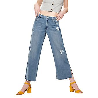 Only Women's Sonny Hw Wide Cropped Flared Jeans