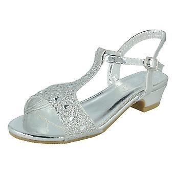 Girls Spot On T-Bar Sandals H1113