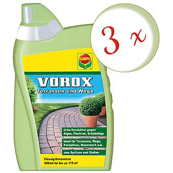 Sparset: 3 x COMPO Vorox® terraces and paths, 500 ml