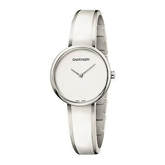 Calvin Klein K4E2N116 Seduce blanco Dial reloj de las damas