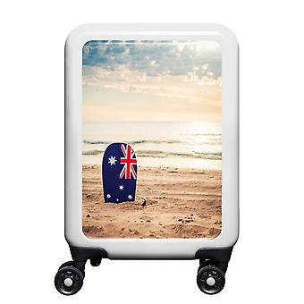 myTrolley Australian Beach S, 4 rollen, 55 cm, 32 L, Wit