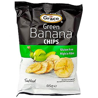 Grace Grön Banan Chips - 9 Pack x 85gr