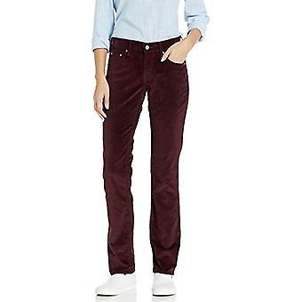 Levi's Women's 505 Legacy Straight Jeans, Soft Cabernet Cord, 29 (US 8) R