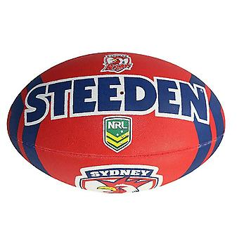 Steeden NRL Sydney Roosters Supporter 2020 Rugby League Ball Red/Navy Blue