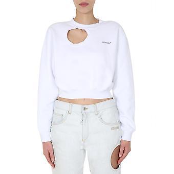 Off-white Owba057s20fle0010145 Women's White Cotton Sweatshirt