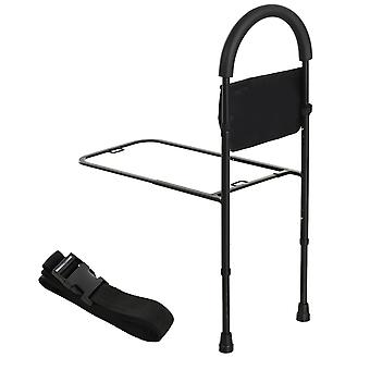HOMCOM Steel Bed Assistance Rail 7-Height Adjustable w/ Storage Bag Foam Handle Safety Support Home