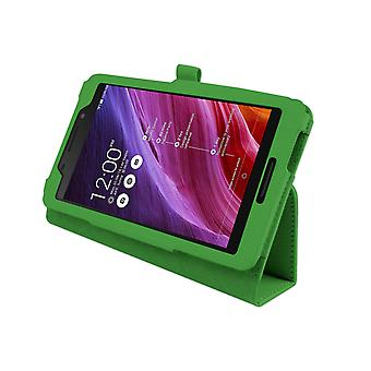 "Magnetic PU Leather Case Cover for Asus FonePad FE375CG 7""[Green]"