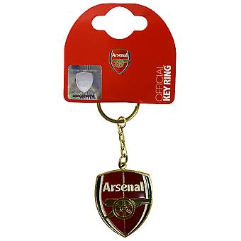 Arsenal FC Official Metal Football Crest Keyring