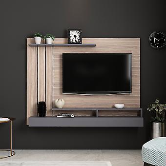 Mobil TV Dør Lawrance Farve Antracit, Træ i Melaminic Chip 157x21x120 cm