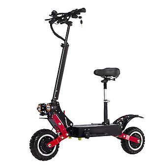 Janobike T85 Electric Off-Road Smart E Step Scooter with Seat - 5600W - 28Ah Battery - 10 inch Wheels
