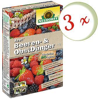 Sparset: 3 x NEWDORFF Azet® Marja- ja hedelmälannoitetta, 1 kg