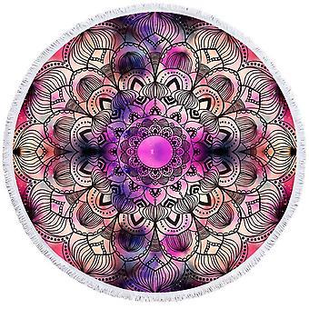 Purple Space Mandala ranta pyyhe