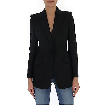 Alexander Mcqueen 610279qjaaa1000 Women's Black Wool Blazer