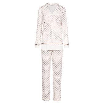 Féraud High Class 3201190-16800 Mujeres's Ivory-Greige Spotted Cotton Pyjama Set