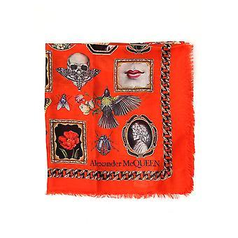 Alexa Chung 5686933011q5079 Frauen's Rote Seide Foulard
