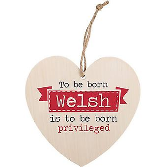Something Different To Be Born Welsh Hanging Heart Sign
