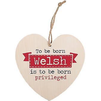 Algo diferente para nascer Galês coração sinal de suspensão