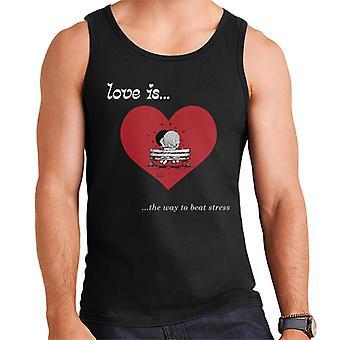 Love Is The Way To Beat Stress Men's Vest