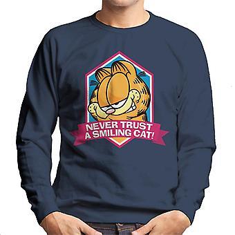 Garfield een lachende kat je nooit vertrouwen mannen ' s Sweatshirt