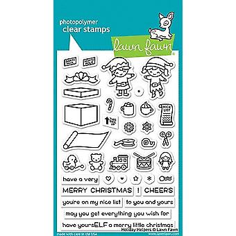 Lawn Fawn Holiday Helpers Clear Stamps
