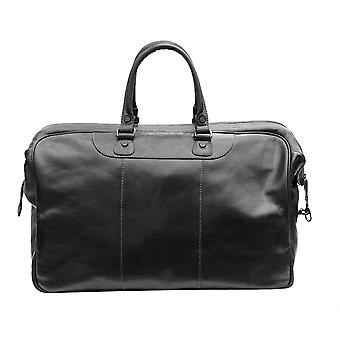 Primehide Mens Large Leather Weekend Travel Holdall Overnight Gym Duffle Bag 569