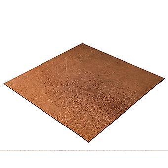 BRESSER Flatlay achtergrond voor het leggen van foto's 60x60cm leer look roest bruin