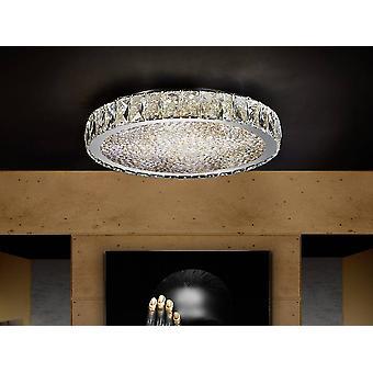Schuller Dana - Geïntegreerde LED Crystal Flush Plafond Licht Chroom