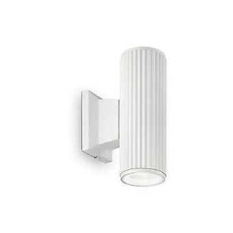 Ideale Lux Base - 2 Licht Outdoor Outdoor Down WandLicht weiß, Schwarz IP44, E27