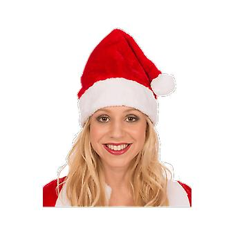 Red Santa Hat With White Trim And Pom Pom Christmas Fancy Dress