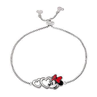 Disney Minnie Mouse Silver Plated Brass Lariat Bracelet