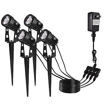 Led Pin Lawn Light One Dragging Four Spotlight Floodlight One To Six Courtyard Lights