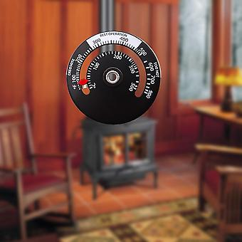 Magnetic Stove Thermometer Heat Powered For Wood Log Burning Stove