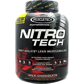 Muscletech Nitro Tech Performance Series Whey Isolate, Milk Chocolate 4 lbs