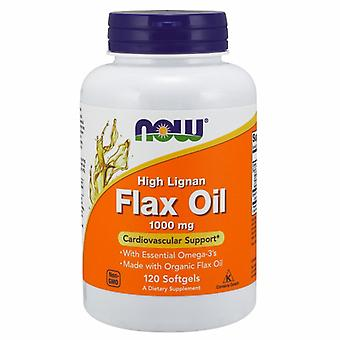 Now Foods High Lignan Flax Oil, 1000 mg, 120 Sofgels