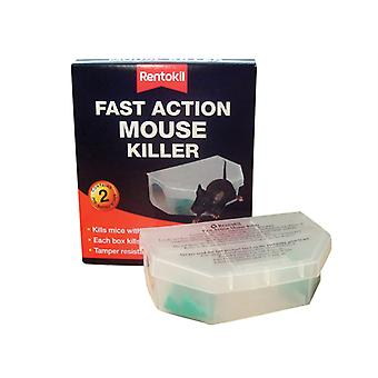 Rentokil Fast Action Mouse Killer (Pack of 2) RKLPSF135