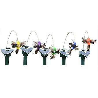 1pcs Solar Powered Flying Hummingbird And Butterflies For Garden Decoration
