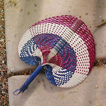Hand Woven Lontar Palm Straws Fan