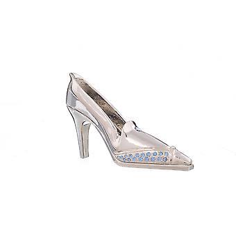 Boîte de trinket de chaussure de soirée d'argent
