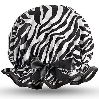 Zebra Shower Cap