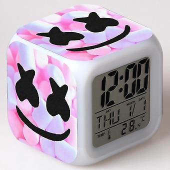 Colorful Multifunctional LED Children's Alarm Clock -Marshmello #7