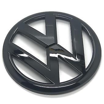Gloss Black VW Volkswagen Polo 6R Rear Boot Tailgate Badge Emblem 110mm GTI TDI TSI R - 2009-2013