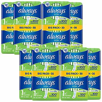 Always Ultra Duo Normal Pads,8 Pack of 30 Pads