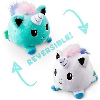 Reversible Einhorn Katze Gato Kinder weiche Späne Oktopus Plüsch Tiere doppelseitige Flip Puppe Spielzeug Peluches für Pulpos Mädchen