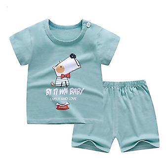 Soft Shorts Suit T-shirt Sodder - Kids Dinosaur Cartoon Spædbarn Tøj