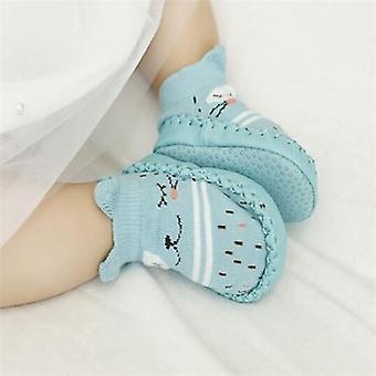 Vauvan vauvan sukat kumipohjia vastasyntyneet vauvan kengät syksy vauvan lattiasukat