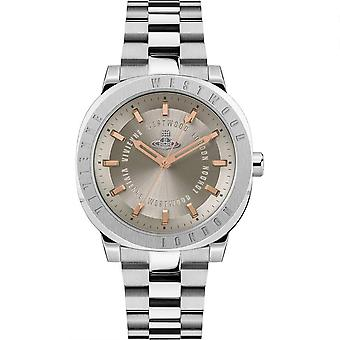 Vivienne Westwood The Mall Quartz Grey Dial Silver Stainless Steel Bracelet Ladies Watch VV228WGSL