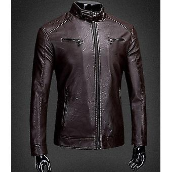 Men Split Leather Jacket Zipper New Arrival Autumn Slim Short Male Moto
