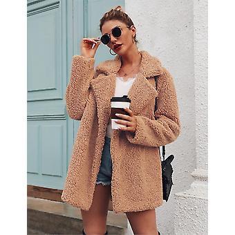 الخريف / الشتاء فو الفرو معطف الصوف Sweatshirts الكارديجان معطف معطف أفخم سترة