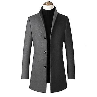 Mens Windbreaker Jacket, Long Overcoat, Men Plus Size, Trench Coat, Stand